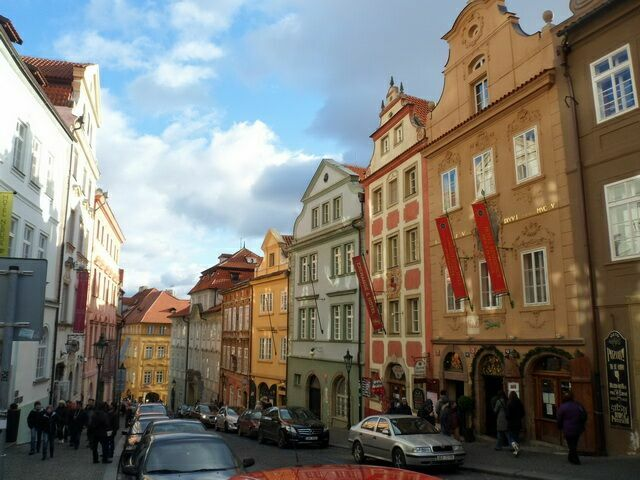 Нерудова улица (Nerudova ulice) в Праге.