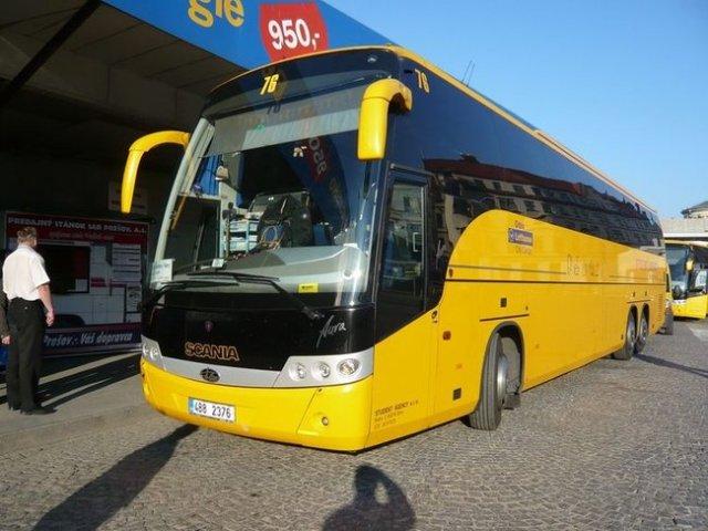 Междугородный автобус в Чехии