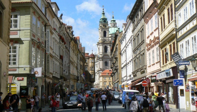 Мостецкая улица (Mostecka ulice) в Праге