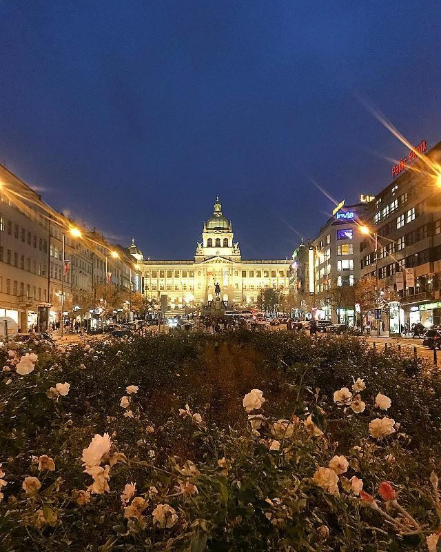 Вацлавская площадь в центре Праги