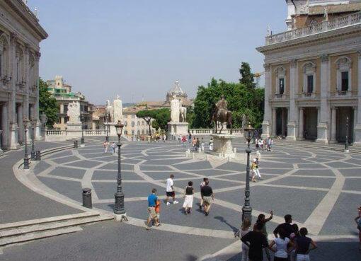 Капитолийская площадь в Риме (Campidoglio)