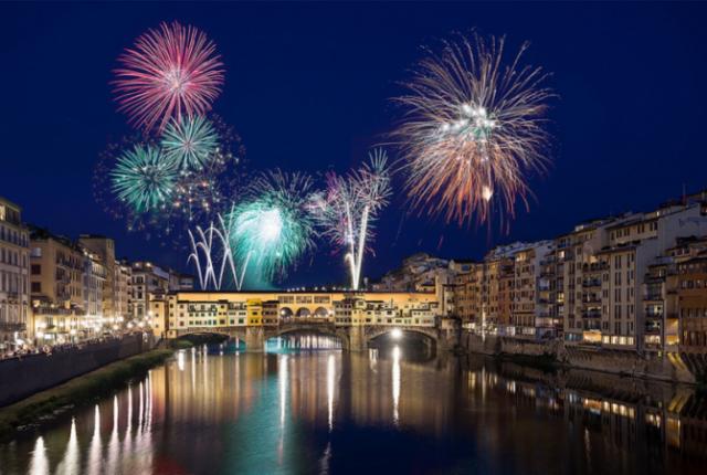 Новогодний салют над Флоренцией