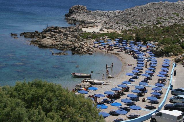 Пляж Ладико Бич Родос Греция