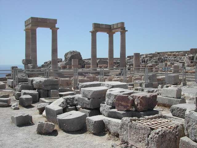 Акрополь в Линдосе Родос Греция