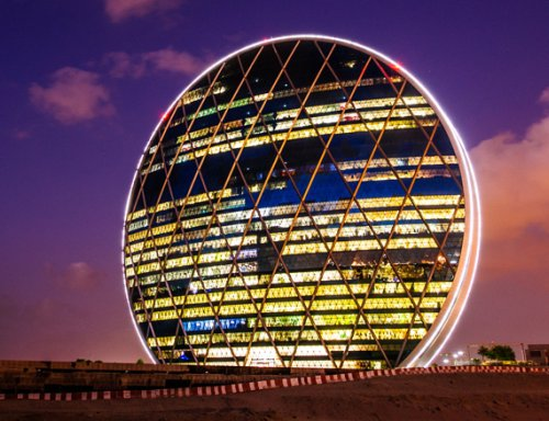 Первый в мире круглый небоскреб Aldar (Абу-Даби, ОАЭ)