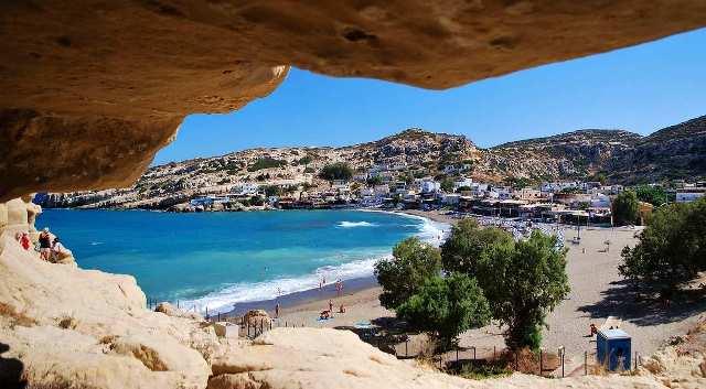 Пляж Матала Крит Греция