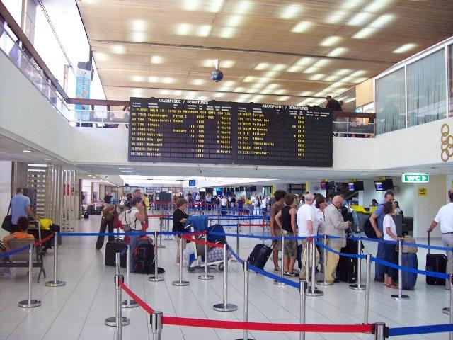 Регистрация на рейс в международном аэропорту Родоса