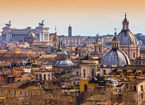 Панорама Рима с высоты птичьего полета