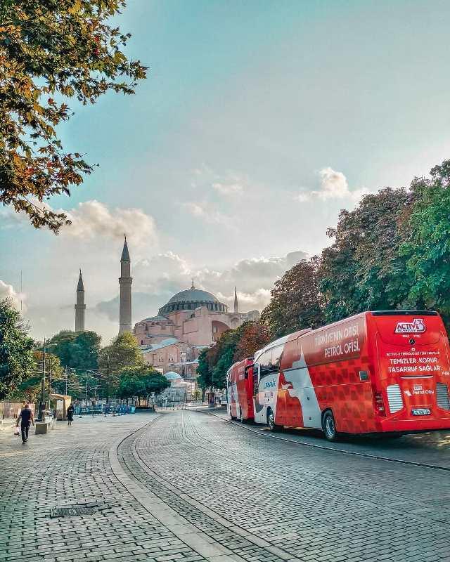 Автобус из аэропорта в центре Стамбула