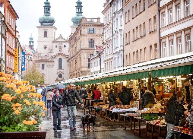 Гавельский рынок Праги Чехия