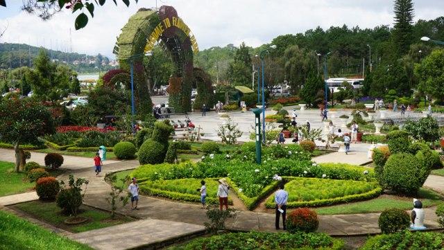 Парк цветов в Далате Вьетнам
