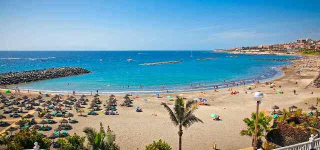 Пляж Playa De Las Americas Тенерифе Испания