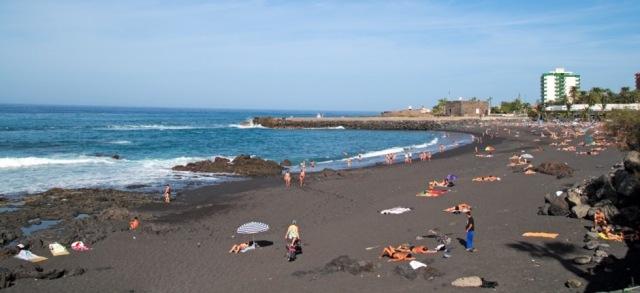 Пляж Плайя Жардин Playa Jardín beach Тенерифе Испания