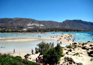 Пляж Elafonisi Beach на Крите (Греция)