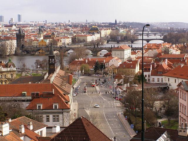 Район Malá Strana Прага Чехия