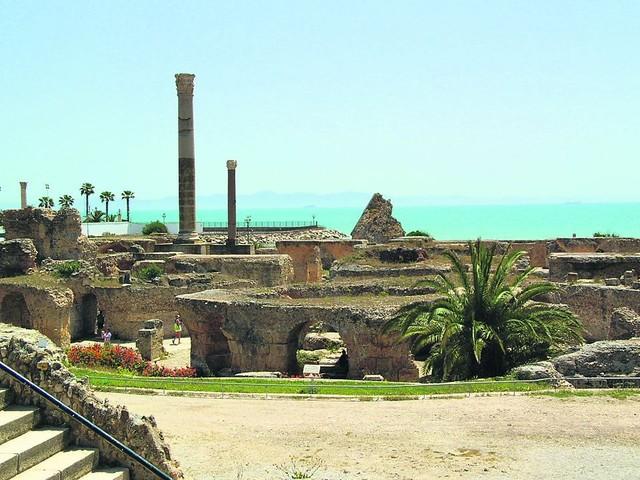 Древний город Карфаген в Тунисе
