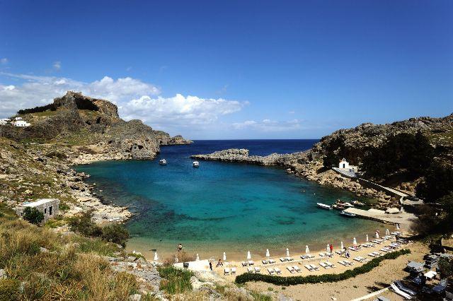 Пляж Линдос, Родос, Греция