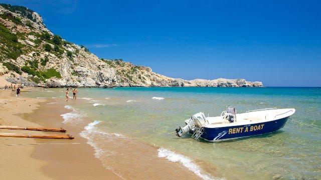 Пляж Цамбика, Родос, Греция