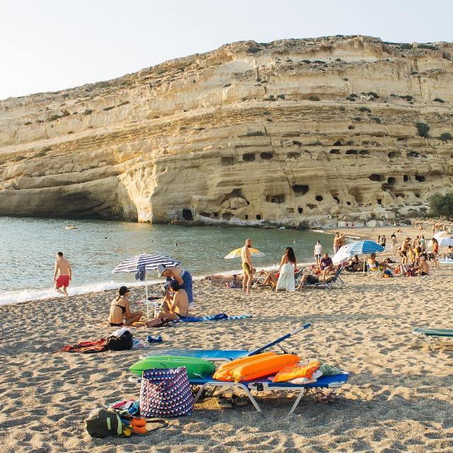 Пляж Матала - оптимален для отдыха с детьми