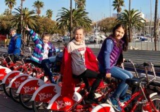 По Барселоне на велосипеде