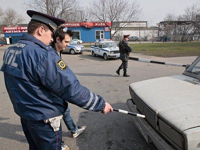 Облава на грязные автомобили в Москве