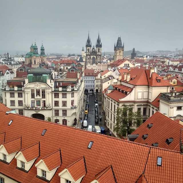 Панорама Праги с Клементинума
