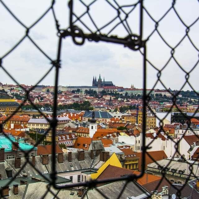 Панорама Праги со смотровой плдощадки