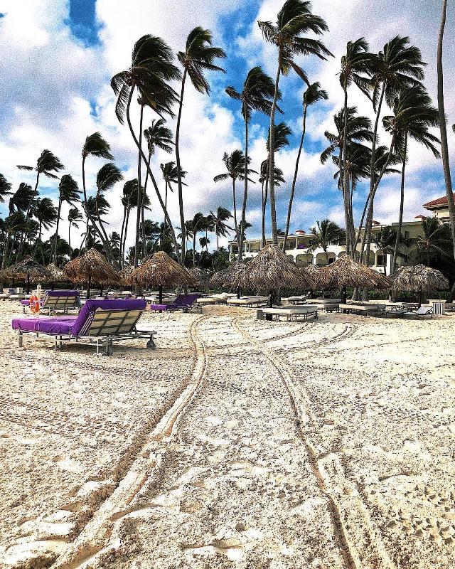 Белоснежный песочек на пляже в Пунта Кане
