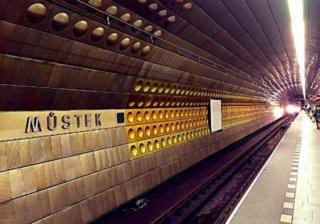 Станция метро Mustek в Праге