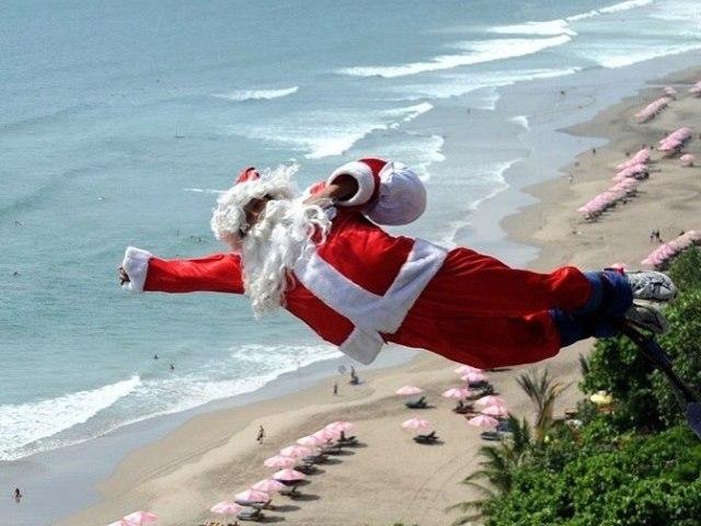 Новый год на берегу моря