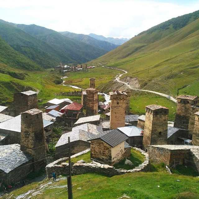 Местечко Ушгули в горной Сванетии.