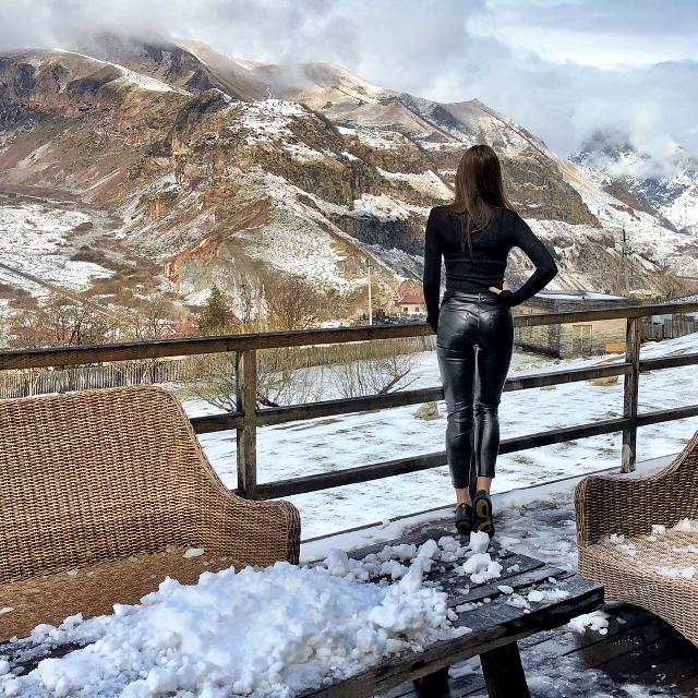 Зимние виды с веранды отеля ничуть не хуже чем летом