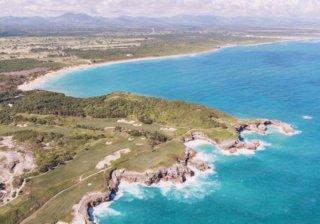 Вид на Доминикану из самолета
