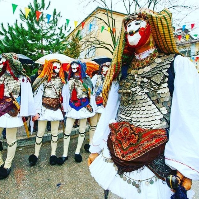 Настоящий Греческий карнавал в городе Ксанфи