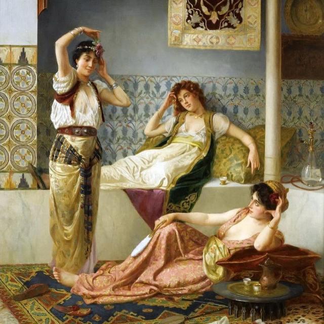 Купальщицы в турецкой бане