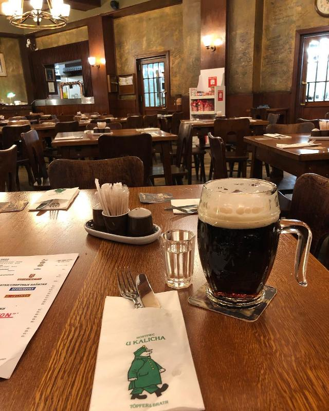 Пиво и сливовица в Hostinec U Kalicha Restuarant