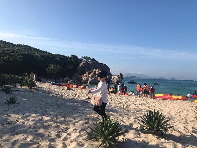 Пляж на острове Binh Hung