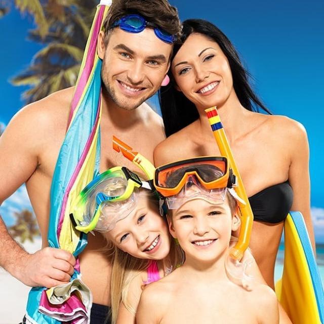 Пляжный отдых всей семьей