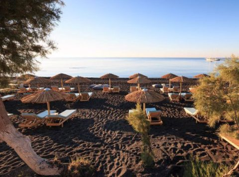 Санторини Греция пляжи