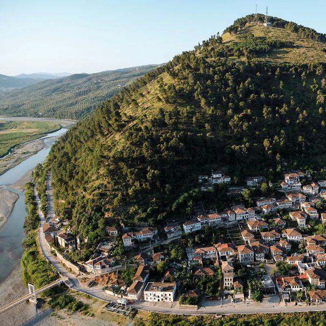 Город Берат в Албании