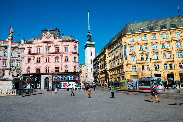 Площадь Свободы в центре Брно