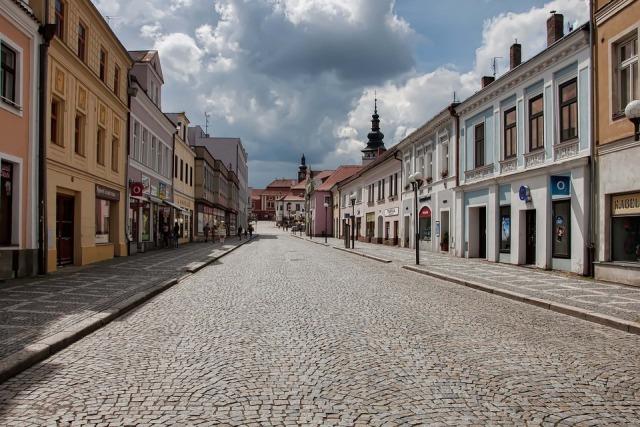 Palacky Street Czech Republic Pelhřimov 4