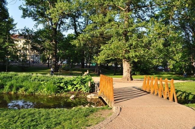 Парк Лужанки в Брно