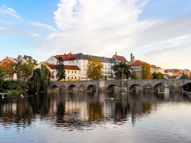 Bridge Atmospheric River Pisek Czech Republic