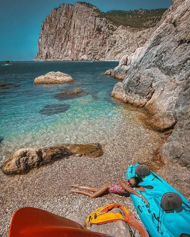 Пляж Васили на мысе Фиолент (Крым)