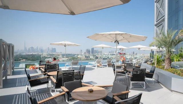 На крыше отеля Al Bandar Rotana