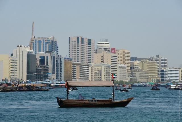 Прогулка на лодке Абра по акватории залива Дубай-Крик