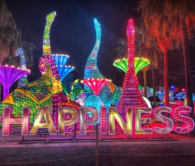 Парк светящихся фигур Dubai Glow Garden