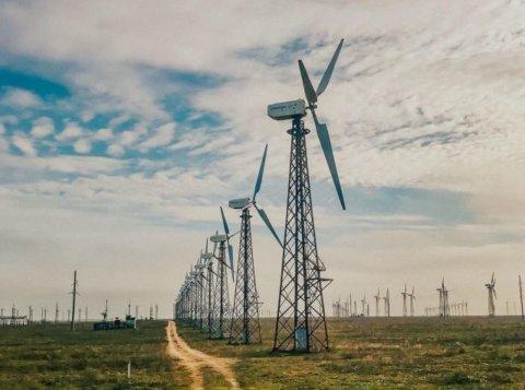 Ветряки на электростанции